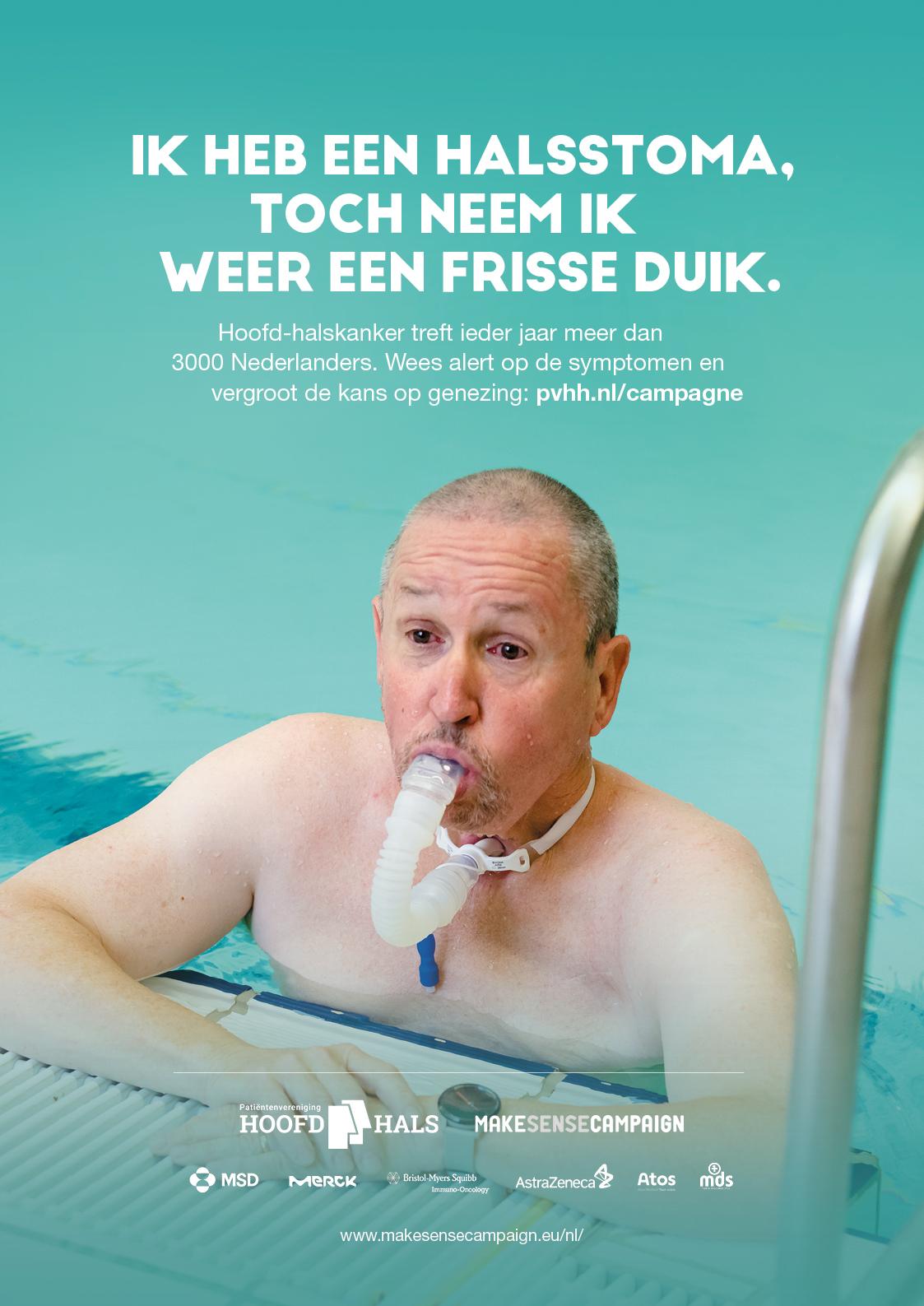 Willem in het zwembad